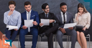 a group of job candidates